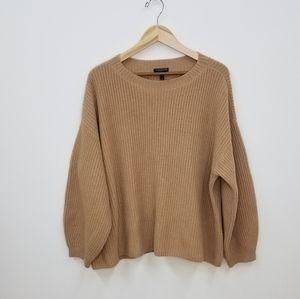 Eileen Fisher Crewneck Shaker Cashmere Sweater- 3X
